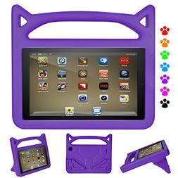 Kindle Fire HD 8 case-Dinines Light Weight Shock Proof Handl