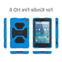 KIDSPR Case for Amazon Fire HD 8 Tablet , Shockproof Convert