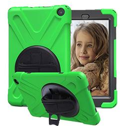 CCMAO All New HD 8 Tablet Case , 360 Degree Rotating Full-Bo