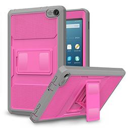 MoKo Case for Fire HD 8 2016 Tablet - Full Body Rugged Cover