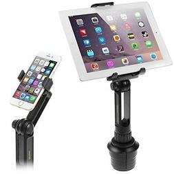 Cup Mount Holder iKross 2-in-1 Tablet and Smartphone Adjusta