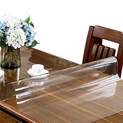 ETECHMART Clear PVC Table Top Protector 1.5mm Thick Multi Si
