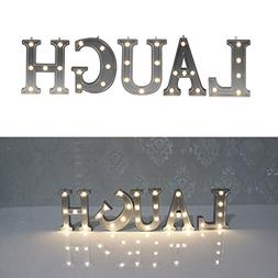 DELICORE Decorative Illuminated Marquee Word Sign  - Lighted