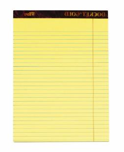 TOPS Docket Gold Writing Tablet, 8-1/2 x 11-3/4 Inches, Perf