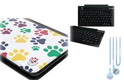 "Dog Paw Samsung Galaxy Tab E Lite 7"" Tablet BlueTooth Keyboa"