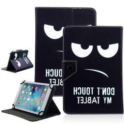 """Don't Touch My Tablet 8"""" Universal Leather Box Case For Acre"""