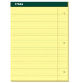 "TOPS Docket Writing Pads, 8-1/2"" x 11-3/4"", Legal Rule, Cana"
