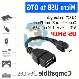Durable Micro USB OTG Host Cable Adapter Male to 2.0 Female