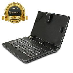 Durable Portable Leather USB QWERTY Keyboard Case Stand + St