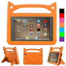 All-New F i r e HD 8 Kids Case - Riaour Light Weight Shock P