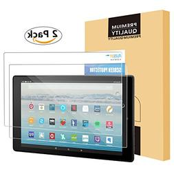All-New Fire HD 10 Screen Protector , PLESON Tempered Glass
