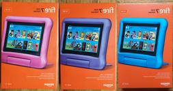 "Amazon Fire 7 Kids Edition Tablet 7"" 16 GB Pink Blue Purple"