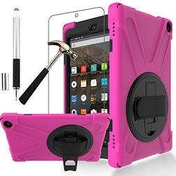 Gzerma Fire HD 8 Case 7th Generation with Fire HD8 Screen Pr