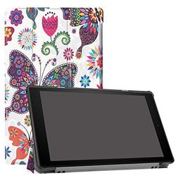 Fire 10 Tablet Case,Kindle Fire HD 10 Case 2017,PU Leather S