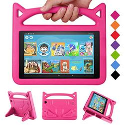 Fire 7 Tablet Case for Kids - SHREBORN Kids Shock Proof Prot