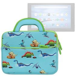 Evecase All-New Fire HD 10 2017 Sleeve, Cute Dinosaurs Theme