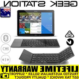 Foldable Folding Bluetooth Wireless Keyboard Touchpad mouse