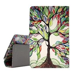 KINDLE FIRE 7 CASE, Premium Slim PU Leather Folding Stand Pr