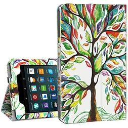 Ztotop Folio Case for All-New Amazon Fire 7 Tablet  - Smart
