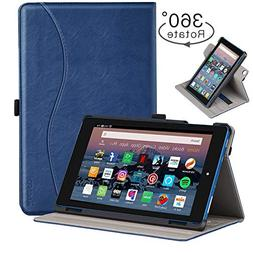 Ztotop Folio Case for Amazon Fire HD 8 Tablet  - Smart 360 D