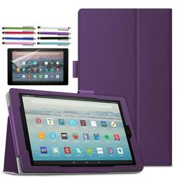 Folio Case Stand Cover for All-New Amazon Kindle Fire 7 HD 8