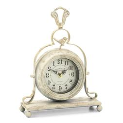 French Vintage Country Style Battery Powered Tabletop Clock