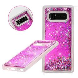 Galaxy Note 8 Case, Asstar Luxury Fashion Bling Flowing Liqu