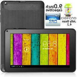 """9"""" Google Android 4.2 JB Dual Core Tablet PC DualCam WiFi HD"""