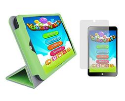 Green Folding Folio Cover Case and Clear Screen Protector fo