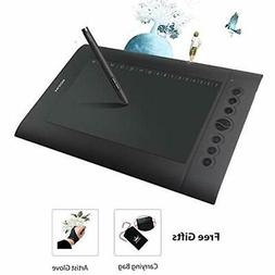 Huion H610 Pro Graphic Drawing Tablet 8192 Pen Pressure Sens