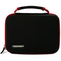 VanGoddy Harlin Red Black Hard Shell Carrying Case for RCA V