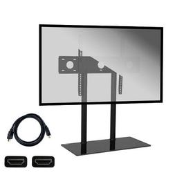 Height Adjustable Universal Tabletop TV Glass Base Stand 32