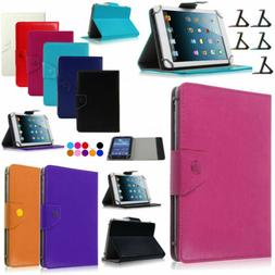 """8"""" Tablet Universal Flip Leather Foldable Stand Card Slot Sh"""