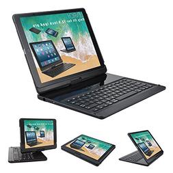 Lenrich iPad pro 12.9 2017/2015 case with Keyboard,360 Rotat