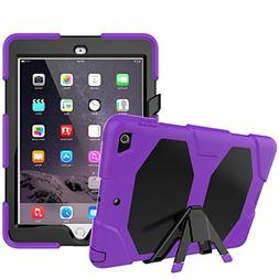 New iPad 9.7 inch 2017 Case, PSRAT  Shockproof Rugged Full B