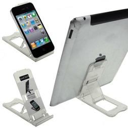 iPad Tablet iPhone Desk Stand Holder Mobile Phone Folding Po