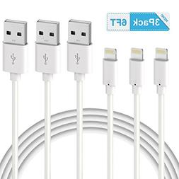 iPhone Charger, Quntis 3PACK 6FT iPhone Charging Cable Cord