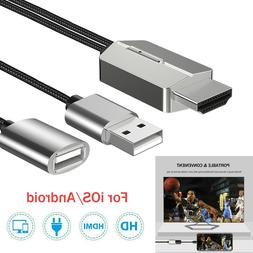 For iPhone/iPad/Android/Samsung HDMI Mirroring Cable AV HDTV
