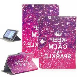 """Keep Calm And Sparkle 8"""" Universal Leather Box Case For Acre"""