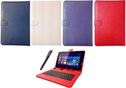 Keyboard Case Leather Cover Stand Wallet Folio fits Yuntab 1