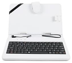 DURAGADGET 'Essentials' 7-inch Keyboard Folio Case in White
