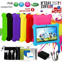 "Kids Tablet PC 7"" Android 4.4 Case Bundle Dual Camera 1.3Ghz"