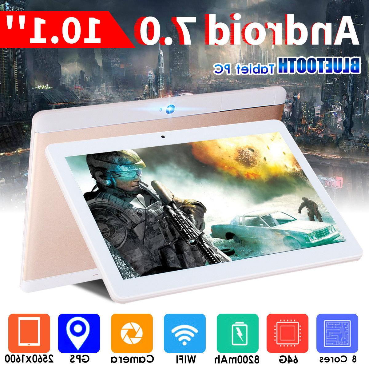 10 Inch 4G RAM 64G ROM Tablet Android 7.0 Octa Core 2Ghz WIF