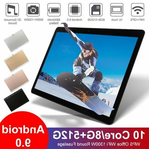 10.1 inch WiFi Tablet Android 9.0 Pad 8+512GB Ten Core Table