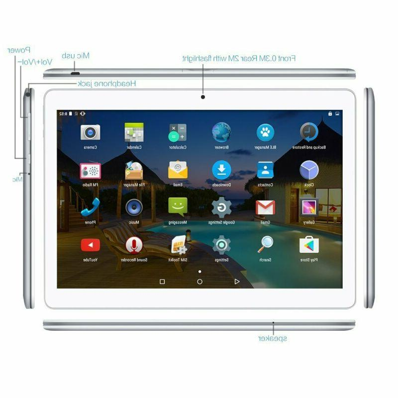 10.1 in. Tablet PC Quad-Core Android 5.1 Unlocked 3G Camera/SIM