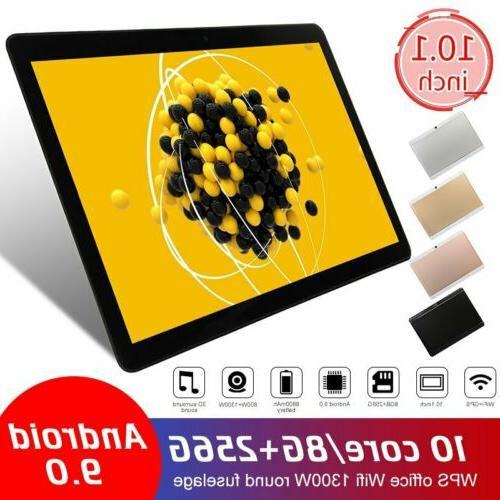 10 Inch Tablet PC Android 9.0 HD 8G+256G 10 Core Google GPS+