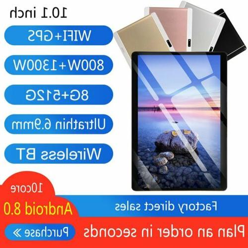 10.1 inch Android 8.0 10 Deca Core Dual SIM Tablet PC WiFi 8