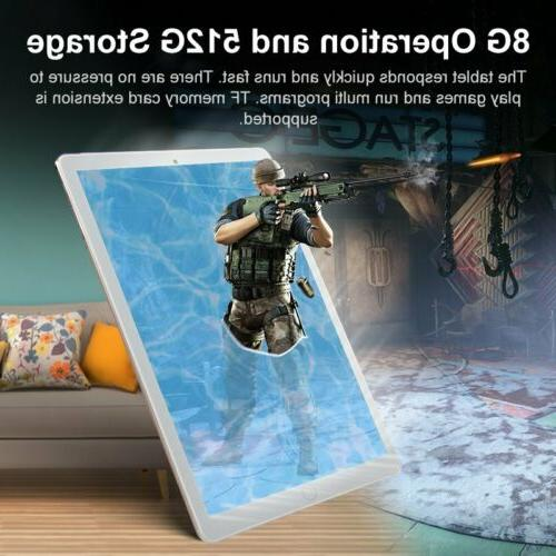 """10.1"""" inch WIFI/4G-LTE Tablet Android Pad 8+512GB 10 GPS Dual Camera"""
