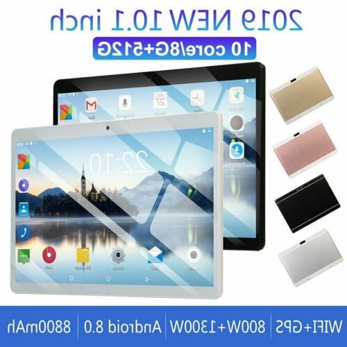 10.1 inch 8G+512G Android 8.0 10 Deca Core Dual SIM Tablet P