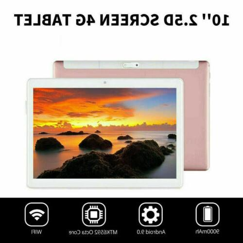 """10.1"""" WIFI/4G-LTE Tablet Android 9.0 HD bluetooth SIM GPS Camera NEW"""
